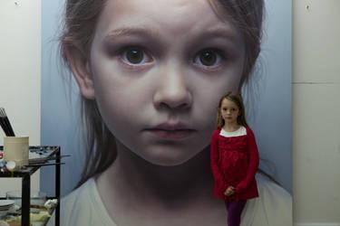 Head of a Child 12 by gottfriedhelnwein