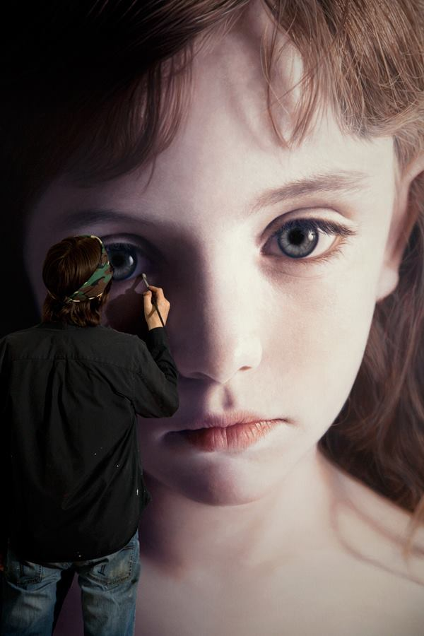 Head of a Child 18 (Mollie) by gottfriedhelnwein