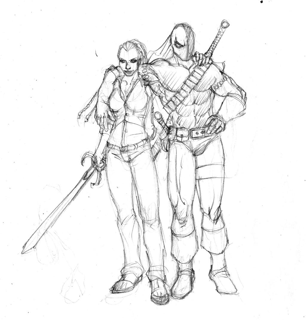 coloring pages of deathstroke costume - photo#9