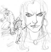 red sonja, cyclops and 7000 :D by Selkirk