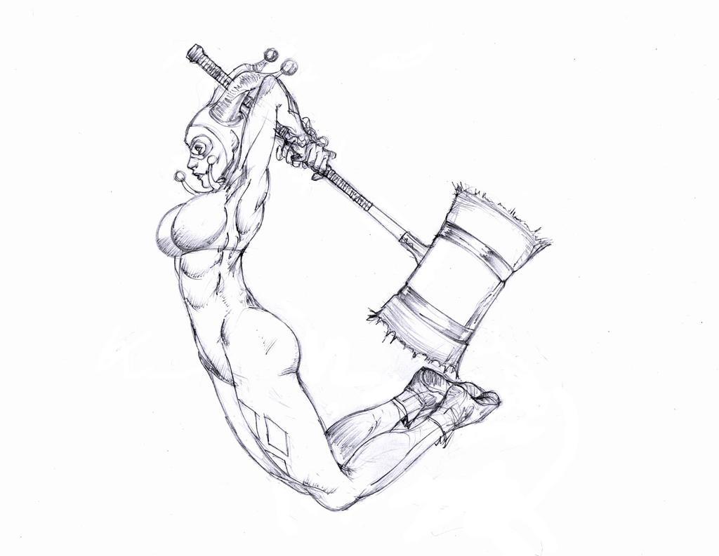 Herley Quinn Line Drawing