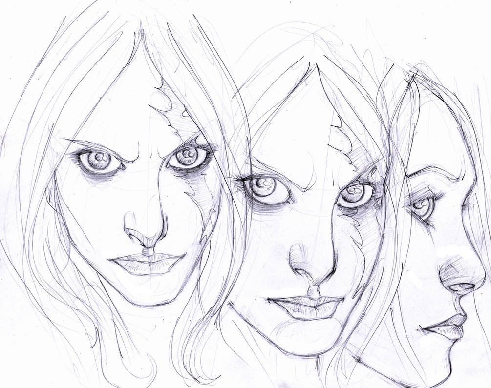 sadness the druid...faces by Selkirk