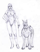 vampirella and hound :D by Selkirk