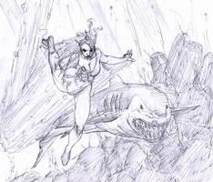 mera is a zombie...:fear: by Selkirk