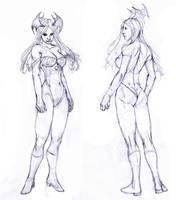 morrigan front and back...:D by Selkirk