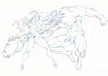 starrior vs horse demon :fear: by Selkirk