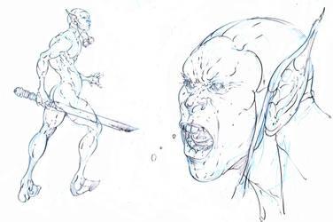 goblin master sergeant ! ready for war ! by Selkirk