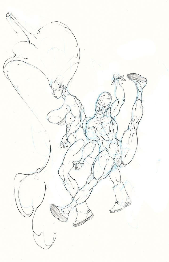 karnak and medusa ready for battle ! :D by Selkirk