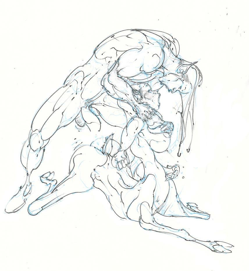 elven ranger .. female centaur .. forest romance ! by Selkirk