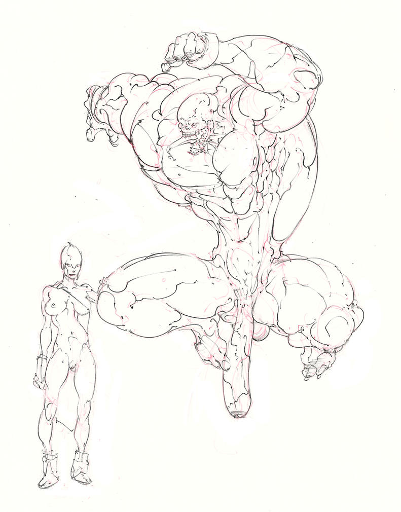 drow cavalier and the sahuagin prince ! :D by Selkirk