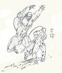 ghoul lord ambushes halfling paladin ! :D by Selkirk
