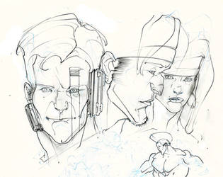 age of apocalypse heads ! :D by Selkirk