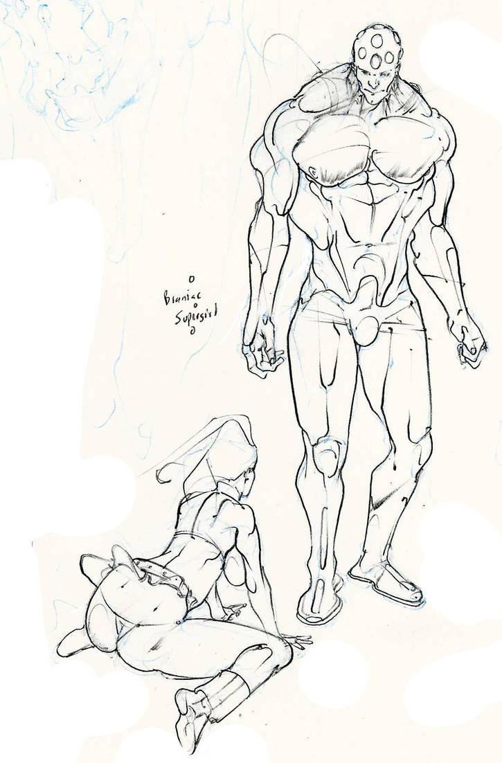 Braniac meets supergirl! :D by Selkirk