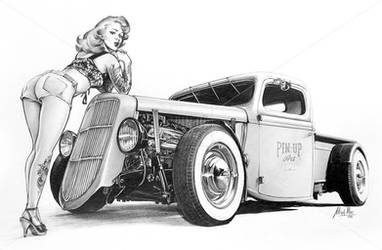 HotRod Pin-Up Tattoo by Pinup-Art