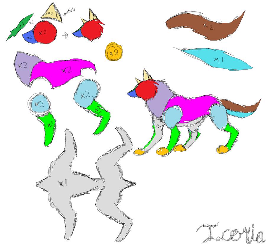 Wolf Plush Pattern by Icoria