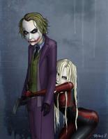 Joker and Harley Quinn by nastynoser
