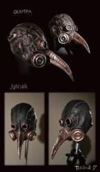 Plague masks by nastynoser