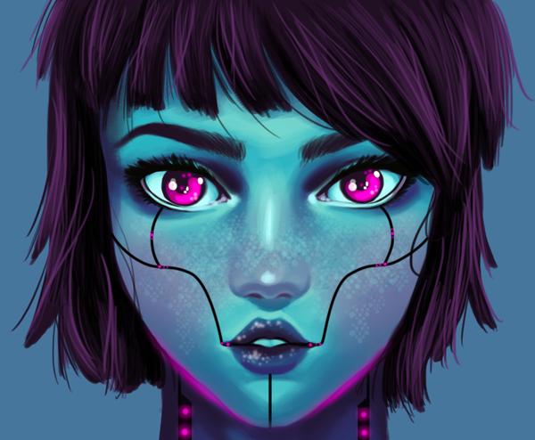 Cyborg Girl by RitaLyn