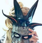 Maskelle Masks Grey Goat Mask + Black Rabbit Mask