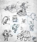 Animal Sketches by Studiom6