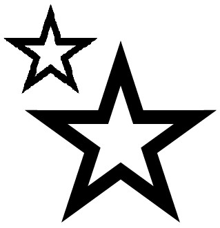 my star tattoo stencil by mimikat on deviantart. Black Bedroom Furniture Sets. Home Design Ideas