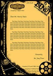 Letterhead Design - Bendy and the Ink Machine