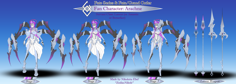 Fate/Grand Order Fan Character - Arachne Lancer