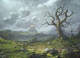 Quick landscape by djahal