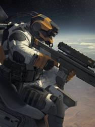 Galaxy Saga (applibot) Orbital sniper by djahal