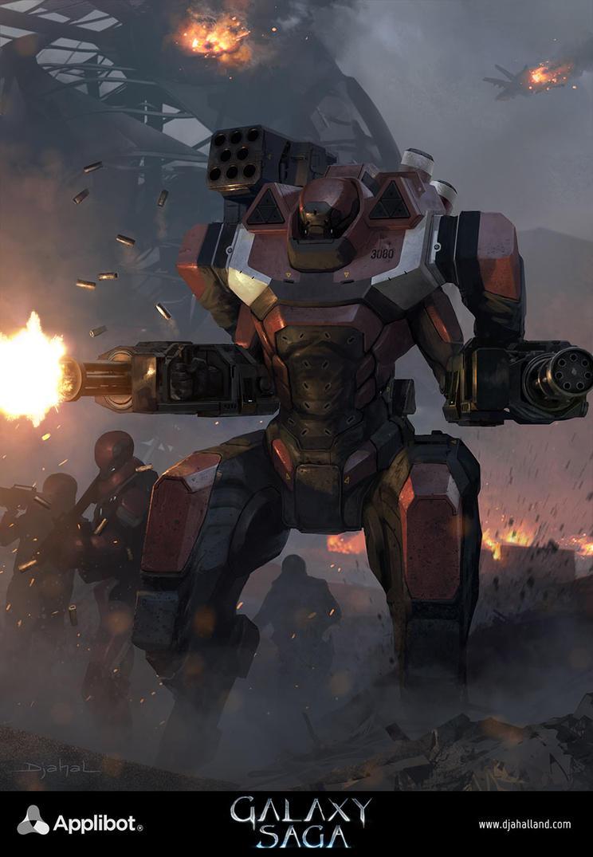 Galaxy Saga (applibot) Galactic empire soldier adv by djahal