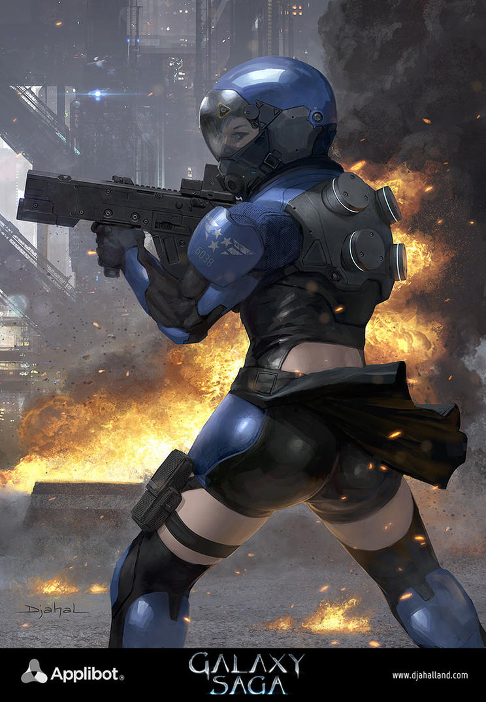 Galaxy Saga (applibot) UPR Soldiers advanced by djahal