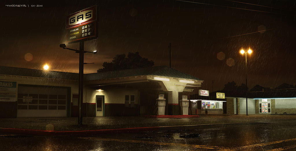 Beyond...Two Souls (Quantic Dream) Gas Station by djahal