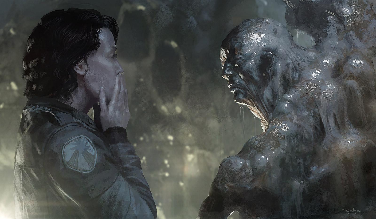 Alien 5 Melting by djahal