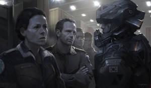 Alien5 Mercenaries by djahal