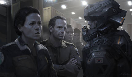 Alien5 Mercenaries by djahal