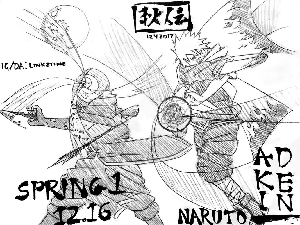 Minato vs the Man in the Mask (Naruto Akiden) by Link2Time