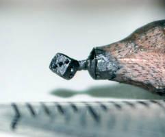 Pencil carving 9 : Dice..