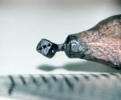 Pencil carving 9 : Dice..