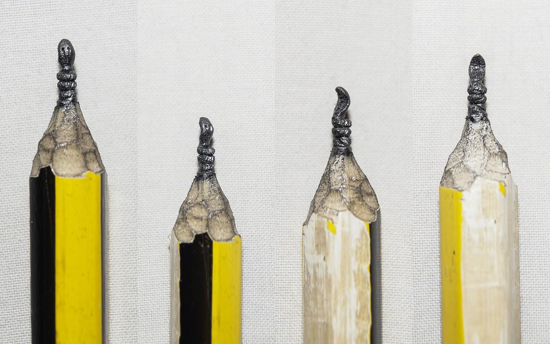 Pencil carving 15 : Naja Naja.. by preethi524