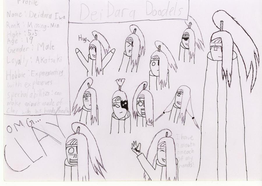 deidara doodles by K8extreme