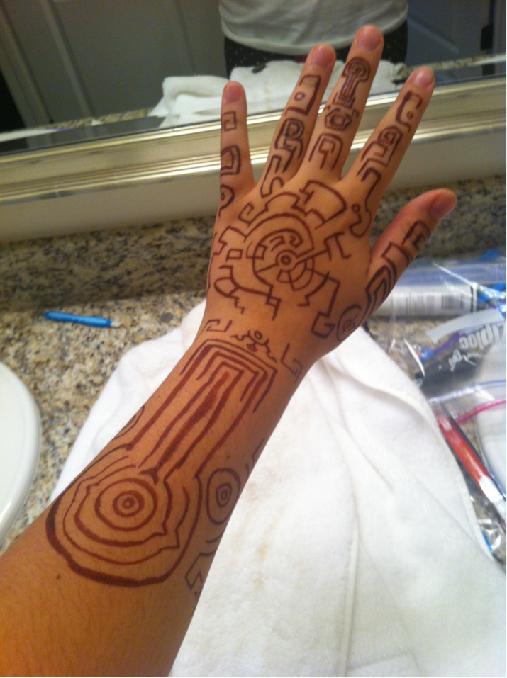 Twilight princess fake henna art by k8extreme on deviantart for Twilight jacob tattoo temporary