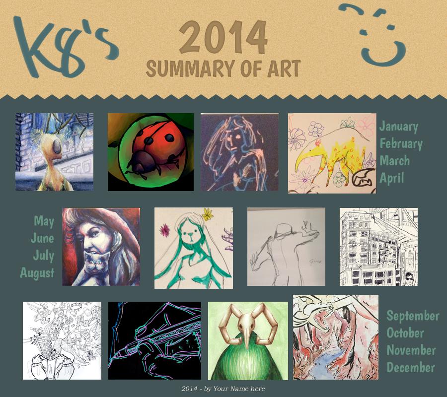 2014 Art Summary by K8extreme