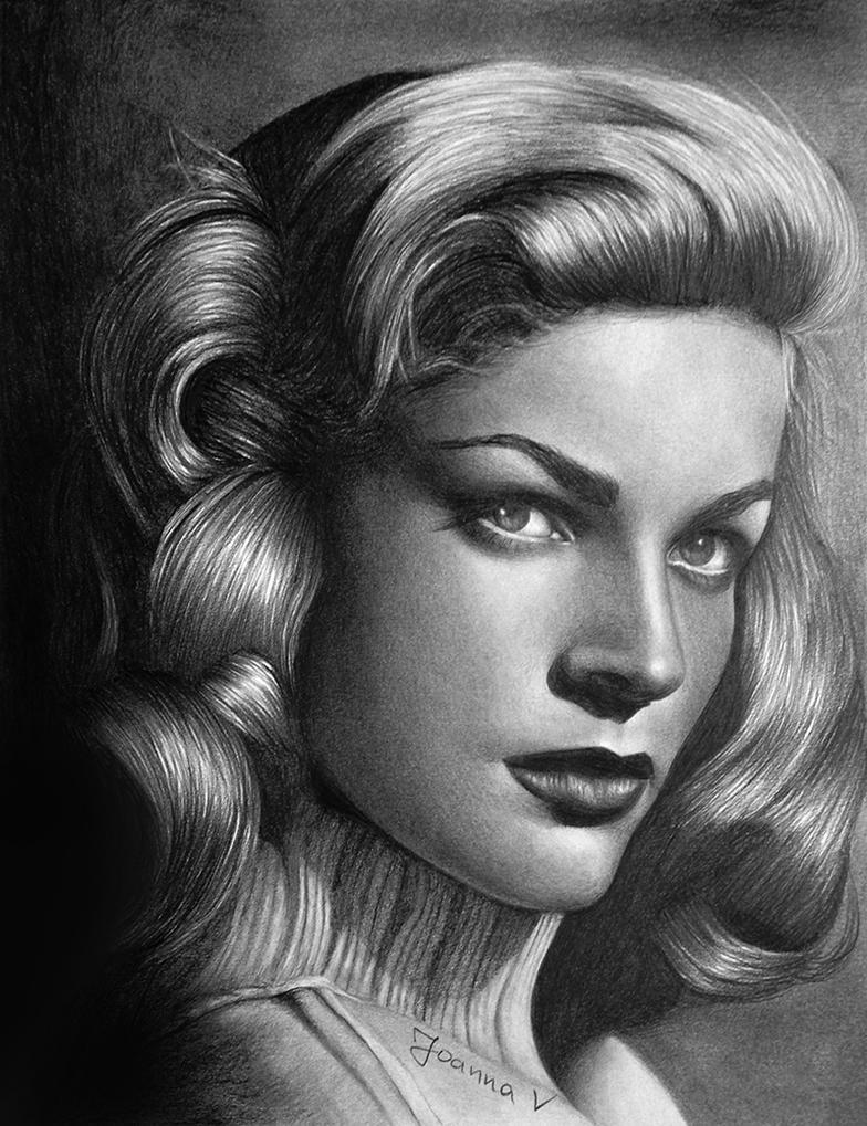 Lauren Bacall by Joanna-Vu
