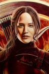 Katniss Everdeen - colored pencils