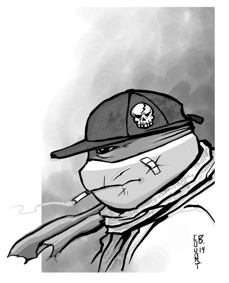 Raph Smoke sketch by Ninja-Turtles