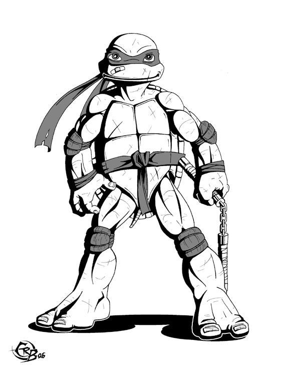 Line Art Ninja Turtles : Mikey by ninja turtles on deviantart