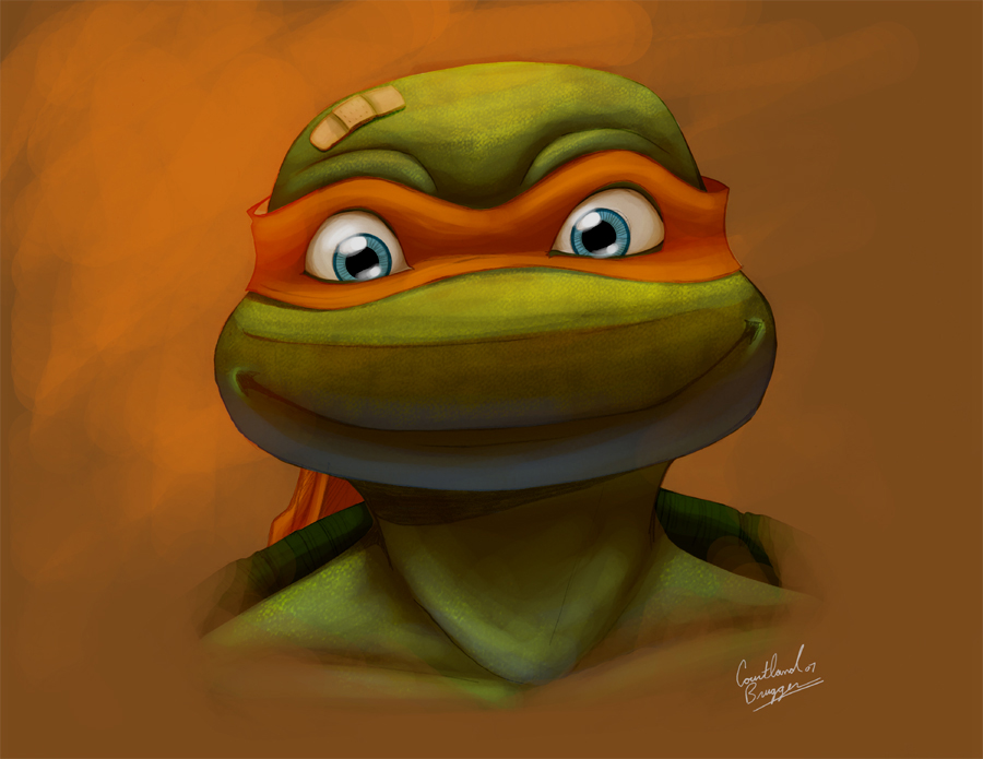 Mikey Portrait by Ninja-Turtles