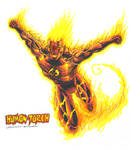 The Human Torch - Johnny Storm by kiborgalexic