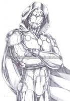 Infamous Iron Man pencil by kiborgalexic
