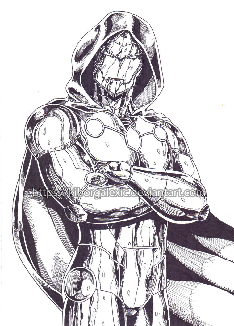 Infamous Iron Man ink by kiborgalexic